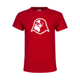 Youth Red T Shirt-Hawk Head