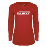 Ladies Syntrel Performance Red Longsleeve Shirt-Secondary Logo
