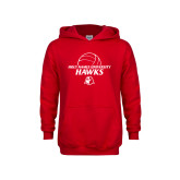 Youth Red Fleece Hoodie-Volleyball