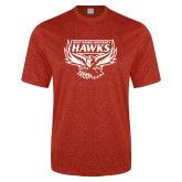 Performance Red Heather Contender Tee-Primary Mark