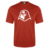 Performance Red Heather Contender Tee-Hawk Head