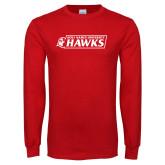 Red Long Sleeve T Shirt-Secondary Logo