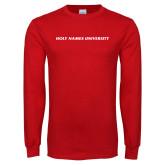 Red Long Sleeve T Shirt-Holy Names University