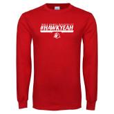 Red Long Sleeve T Shirt-HawkYeah