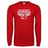 Red Long Sleeve T Shirt-Primary Distressed