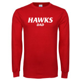 Red Long Sleeve T Shirt-Hawks Dad