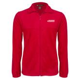 Fleece Full Zip Red Jacket-Secondary Logo
