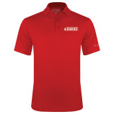 Columbia Red Omni Wick Drive Polo-Secondary Logo