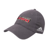 Adidas Charcoal Slouch Unstructured Low Profile Hat-Secondary Logo
