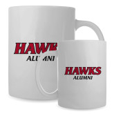 Alumni Full Color White Mug 15oz-Hawks Alumni