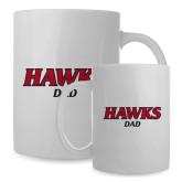 Dad Full Color White Mug 15oz-Hawks Dad