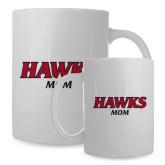 Mom Full Color White Mug 15oz-Hawks Mom
