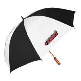64 Inch Black/White Vented Umbrella-Secondary Logo