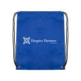 Royal Drawstring Backpack-Hospice Partners of America