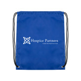 Royal Drawstring Backpack-Hospice Partners - Tagline