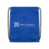 Royal Drawstring Backpack-Alamo Hospice - Tagline