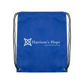 Royal Drawstring Backpack-Harrisons Hope - Tagline
