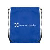 Royal Drawstring Backpack-Serenity Hospice - Tagline