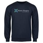 Navy Fleece Crew-Alamo Hospice - Tagline