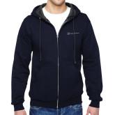 Navy Fleece Full Zip Hoodie-Hospice Partners
