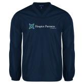 V Neck Navy Raglan Windshirt-Hospice Partners of America