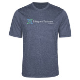 Performance Navy Heather Contender Tee-Hospice Partners of America
