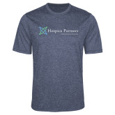 Performance Navy Heather Contender Tee-Hospice Partners - Tagline