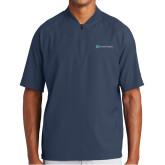 New Era Navy Cage Short Sleeve 1/4 Zip-Serenity Hospice