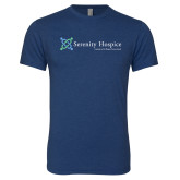 Next Level Vintage Navy Tri Blend Crew-Serenity Hospice - Tagline