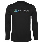 Performance Black Longsleeve Shirt-Alamo Hospice - Tagline