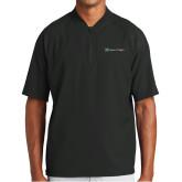 New Era Black Cage Short Sleeve 1/4 Zip-Hospice of Virginia