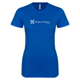 Next Level Ladies SoftStyle Junior Fitted Royal Tee-Hospice Partners of America