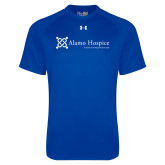 Under Armour Royal Tech Tee-Alamo Hospice - Tagline