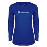 Ladies Syntrel Performance Royal Longsleeve Shirt-Hospice Partners of America