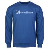 Royal Fleece Crew-Alamo Hospice - Tagline