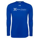 Under Armour Royal Long Sleeve Tech Tee-Alamo Hospice - Tagline