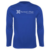 Performance Royal Longsleeve Shirt-Harrisons Hope - Tagline
