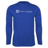 Performance Royal Longsleeve Shirt-Hospice of Virginia - Tagline