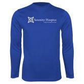 Performance Royal Longsleeve Shirt-Serenity Hospice - Tagline