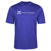 Performance Royal Heather Contender Tee-Hospice Partners - Tagline
