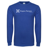 Royal Long Sleeve T Shirt-Hospice Partners of America