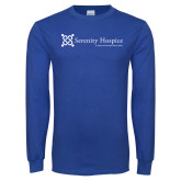 Royal Long Sleeve T Shirt-Serenity Hospice - Tagline