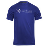 Russell Core Performance Royal Tee-Serenity Hospice - Tagline