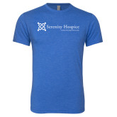 Next Level Vintage Royal Tri Blend Crew-Serenity Hospice - Tagline