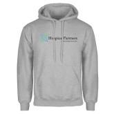 Grey Fleece Hoodie-Hospice Partners - Tagline