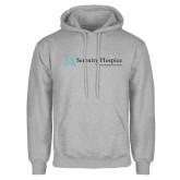 Grey Fleece Hoodie-Serenity Hospice - Tagline