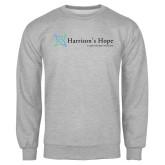 Grey Fleece Crew-Harrisons Hope - Tagline