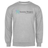 Grey Fleece Crew-Serenity Hospice - Tagline