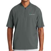 New Era Charcoal Cage Short Sleeve 1/4 Zip-Hospice Partners