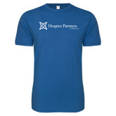 Next Level SoftStyle Royal T Shirt-Hospice Partners of America
